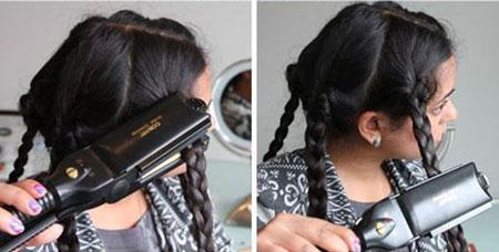 локоны с утюжком для волос