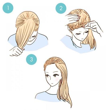 укладка волос на бок