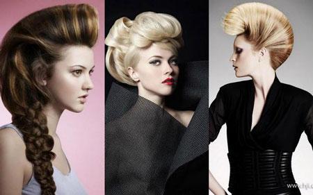 экстравагантная укладка волос