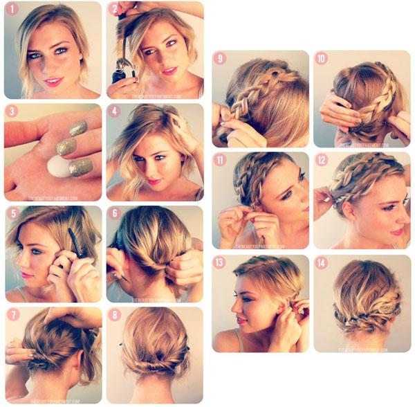 Плетение кос на короткие волосы