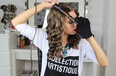 накручиваем волосы с помощью плойки