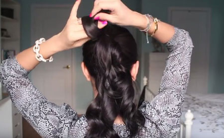 пучок из волос варианты