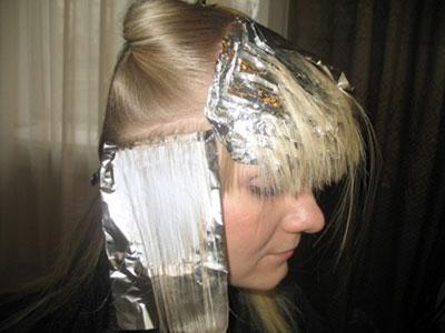 мелирование волос на фольге