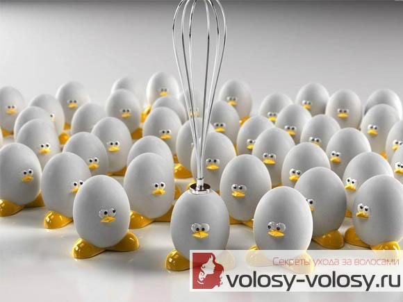 Маска для волос из яйца