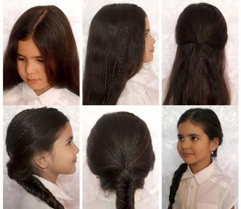детская прическа для девочки с косами