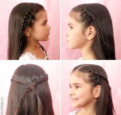 детские прически с косами