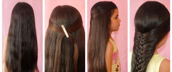 детская прическа с длинными волосами