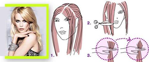 как подстричь челку самой себе 2
